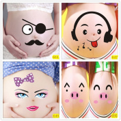 Bango 3d Lovely Pig Lover Maternity Photography Props for Pregnant Women Belly Painting Photo Stickers 5 Pcs, BGPS005E