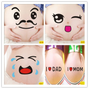 Bango 3d I Love Mom And Dad Maternity Photography Props for Pregnant Women Belly Painting Photo Stickers 5 Pcs, BGPS005B