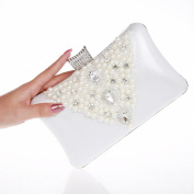 Alizeebridal Women's Mini Hard Evening Bag with Pearls Rhinestones