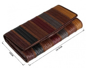 Genda 2Archer Women's Fashion Real Leather Wallet Card Bag Coin Case Phone Holder