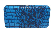 Chicastic Faux Snakeskin Leather Flat Hard Case Large Clutch Wallet