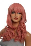 Epic Cosplay Hestia Princess Dark Pink Curly Wig 60cm