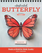 Illustrated Butterfly Page-A-Month Desk Easel Calendar 2017