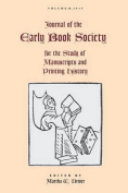 Journal of the Early Book Society Vol. 18
