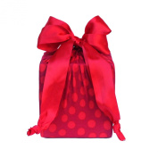 Eco Friendly + Reusable Stretchy Fabric Gift Wrap - Red Dots