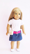 Doll Clothes - 5-Piece Casual Outfit Fits American Girl Doll, My Life Doll, Our Generation and other