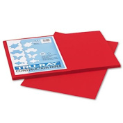 Tru-Ray Construction Paper, 34kg., 12 x 18, Holiday Red, 50 Sheets/Pack, Sold as 50 Sheet