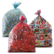 3 Giant Christmas Gift Bag 90cm x 110cm with Gift Tag! Sturdier Quality for Christmas 2015!