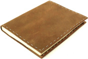 Rustic Refillable Leather Sketchbook with Handmade Paper - 15cm x 20cm - Rustic Ridge Leather
