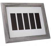 CreativePF- [pb11x14dw-w] Driftwood Wedding Event Photo Booth Frame - Holds 5- 2x6 with White Mat to Display, Cherish and Preserve your Wedding Memories