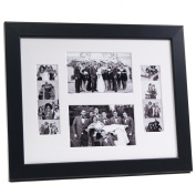 CreativePF [4x 6event11x 14bk-w] Black Event Photo Booth Frame Ð Holds 2- 4 by 6 and 2- 5.1cm by 15cm Photographs with White Collage Mat and Stand