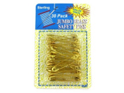 sterling Jumbo Brass Safety Pins