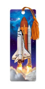 Dimension 9 3D Lenticular Bookmark with Tassel, Space Shuttle Lift Off