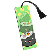 Cute Sushi Printed Bookmark with Tassel