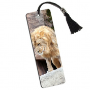 Lion of the Jungle Printed Bookmark with Tassel