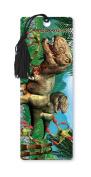Dimension 9 3D Lenticular Bookmark with Tassel, Tyrannosaurus Rex in Jungle