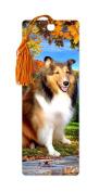 Dimension 9 3D Lenticular Bookmark with Tassel, Shetland Sheepdog, Pet Breed Series