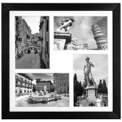 Collage Picture Frame 4x 6 - Displays Four 10cm x 15cm Pictures (Two Landscape Pictures & Two Portrait Pictures) with Acid-Free Mat - Top Selling Multiple Picture Frame