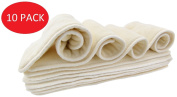 Bamboo Cloth Nappy Inserts for Pocket or Cover Nappies from Nora's Nursery - One Size Fits All