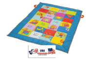 Taf Toys I Love Big Mat Activity Play Mat with Baby Safe Mirror, Plastc Rings, Teether and Crinkling Tail