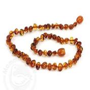 Momma Goose Amber Baby Baroque Necklace - Cognac