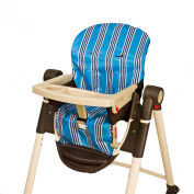 Wupzey Highchair Seat Cover, Blue Stripe