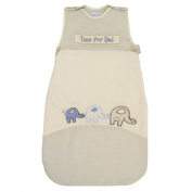 LIMITED TIME OFFER! The Dream Bag Baby Sleeping Bag Elephant VELOUR & COTTON 18-36 months 3.5 TOG - Cream