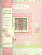 """our baby"" Baby's First Record Memory Book Keepsake birds/flowers, girl Pink Baby Book"