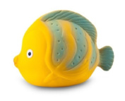 CaaOcho Ocean - La the Butterfly Fish Baby Bath Toy - Natural Rubber Bath Toy - Hermetically Sealed, BPA, PVC, phthalates Free