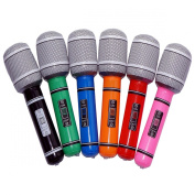 TINKSKY Microphone Mic Karaoke 6pcs Plastic Toy Microphone 24CM for Kids