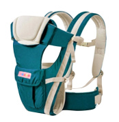 Drasawee Front and Back Multifunctional 3D Breathable Netted Cotton Infant Baby Carriers Bag Sling Lake Blue