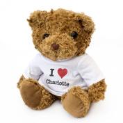 NEW - I LOVE CHARLOTTE - Teddy Bear - Cute And Cuddly - Gift Present Birthday Xmas Valentine