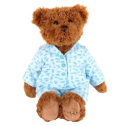 FAO Schwarz 30cm White Pyjamas Plush Bear - Brown