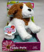 Blip Toys Amazimals Tickle Pets - Jack Russel Terrier White With Brownhead And Ears