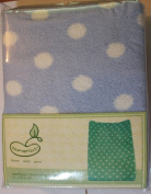 Printed Coral Changing Table Cover Blue