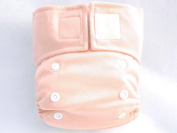 Kawaii Pure & Natural Newborn Cloth Nappy with 2 Microfiber Inserts in Peach Pink