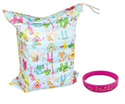 Besto Baby Cloth Nappy Laundry Wet and Dry Bags , Animal Print