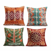 Colourful Bohemian Style Throw Pillow Cases Square Cushion Cover Home Sofa Decor