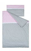 Vizaro - Duvet Cover Bedding Set for COT BED - 100% Premium Quality Luxury Cotton - Polka Dots and Stars - Tested against harmful substances - Made in EU