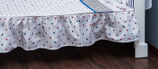 Vizaro - Valance Sheet for COT BED- 100% Premium Quality Luxury Cotton - Beach Huts Collection - Blue, red & white colours - Tested against harmful substances - Made in EU