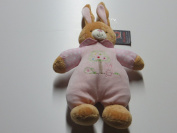 MaxiMo Hare with Rattle and Horn in Pale Pink