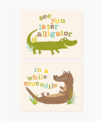 Sea Urchin Studio Print Set, See You Later/Alligator, 20cm x 25cm