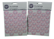 Lot of 100 Wilton It's A Girl Envelope Seals Stickers