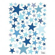Lilipinso Children's Star Stickers Electric Blue