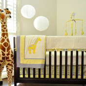 Pam Grace Creations bdnb-argyle Argyle Giraffe 10 Piece Crib Set - yellow, grey
