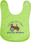 """Burp cloth Bib Baggy bib Slobber cloth Baby bibs WITH Embroidery """"I AM with PAPA TRACTOR DRIVEN"""" NEW"""