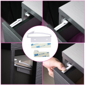 Hipiwe Child Safety Drawer Lock Self Adhesive Baby Drawer Locks, Instal in Minutes, No Drilling Needed
