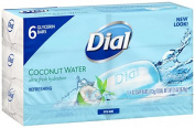 Dial Coconut Water Ultra Fresh Hydration Glycerin Soap 6 Pcs - 120ml Soap Bars