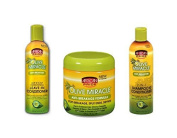African Pride Olive Miracle TRIO Set of Hair Care Products