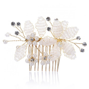 Remedios Cluster Pearl Flower Bridal Hair Comb Hairpiece Wedding Party Accessory